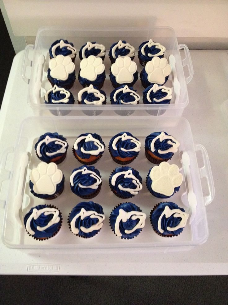 My Penn State cupcakes for our tailgate. | Penn State Forever ...