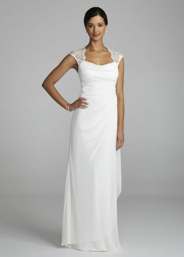Simple ivory dress david 39 s bridal wedding dress pinterest for Davidsbridal com wedding dresses
