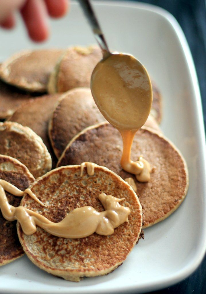 Cinnamon Applesauce Oatmeal Pancakes with Salted Peanut Butter Maple ...