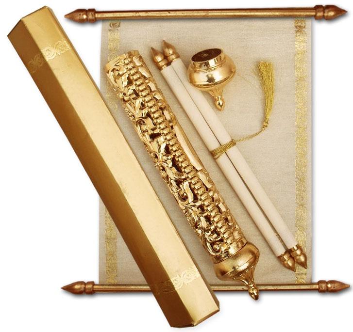 Indian Scroll Wedding Invitations Usa ~ Yaseen for