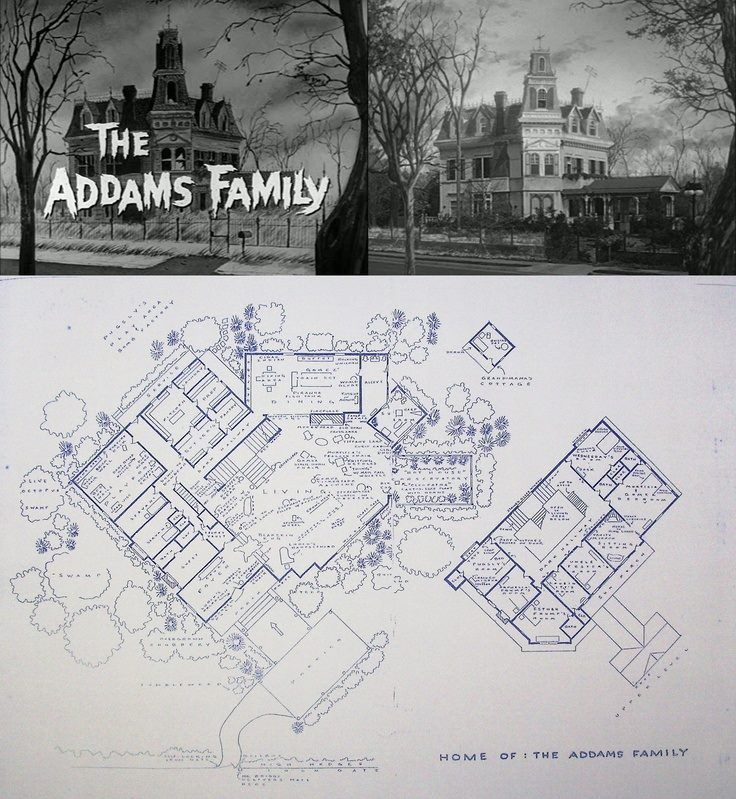 the addams family house floor plan places spaces