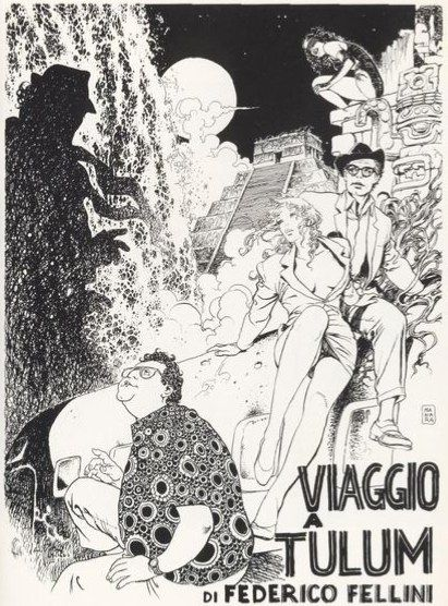 Milo Manara and Federico Fellini