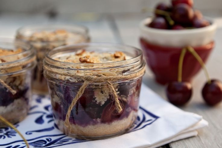 Cherry-Almond Crumble, another scrumptious recipe from Shaina Olmanson ...