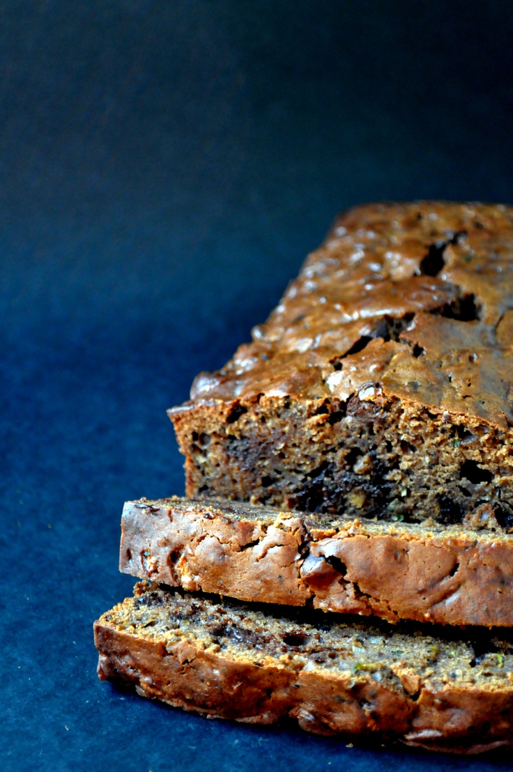 Chocolate Chocolate Chip Olive Oil Zucchini Bread - Use whole wheat ...
