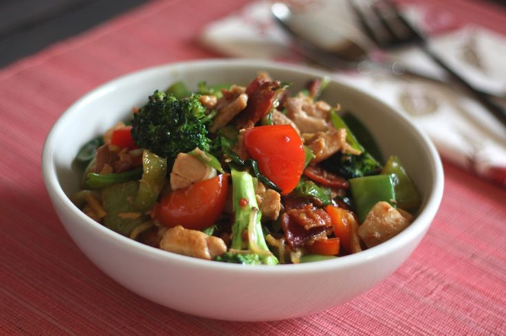 Chinese Stir-Fried Chicken With Vegetables Recipe — Dishmaps