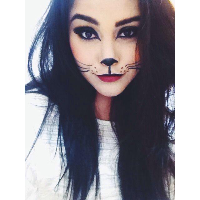 cat makeup... Cat halloween costume?   Beauty   Pinterest