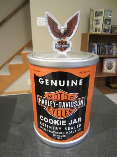 Harley Davidson Oil Can Cookie Jar