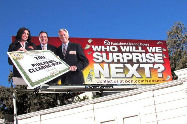 Check out the Prize Patrol on a billboard!
