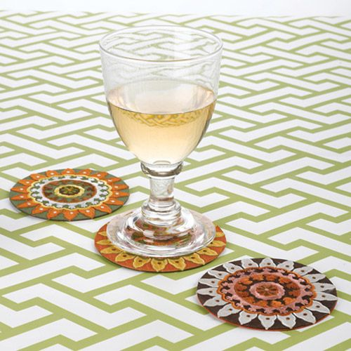 Suzani Coasters from FDO Group, Inc.