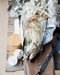 Grilled Whole Fish with Chile and Lime - sea bass or other firm which ...