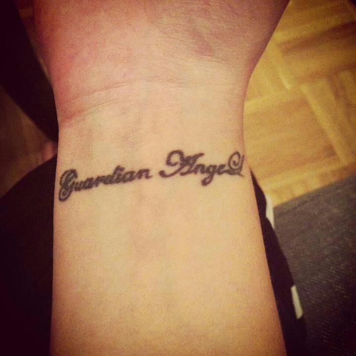 Guardian angel tattoo wrist
