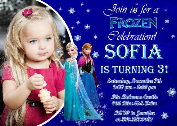 Disney Frozen Birthday Invites as luxury invitation layout