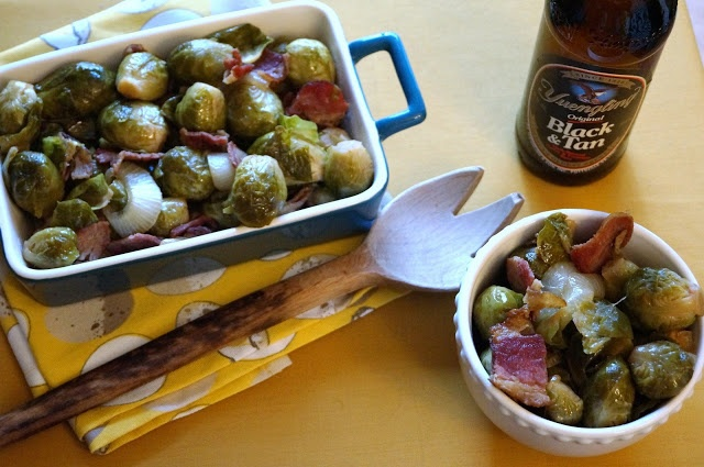 ... Disturb This Groove: Roasted Brussels Sprouts with Beer and Bacon