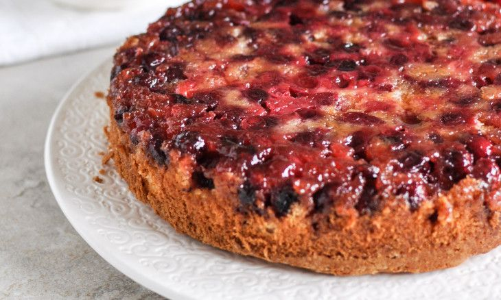 Holiday Upside-Down Cranberry Cake | Recipe