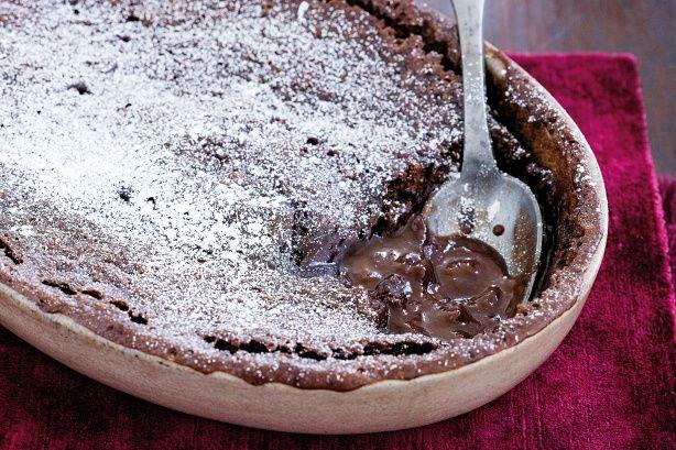 Microwave chocolate self-saucing pudding Recipe - Taste.com.au Mobile