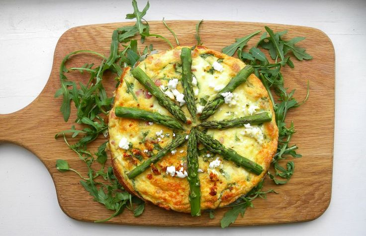 Feta and Asparagus Crustless Quiche - Truly Scrumptious