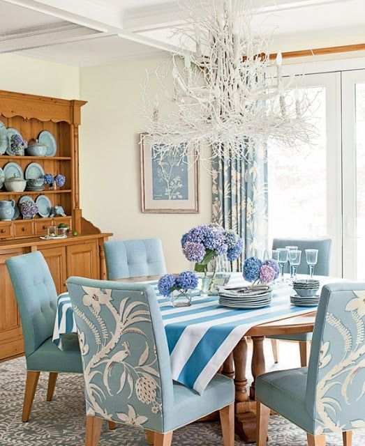 I love the backs of these chairs. It is a cool way to get personality in the dining room.