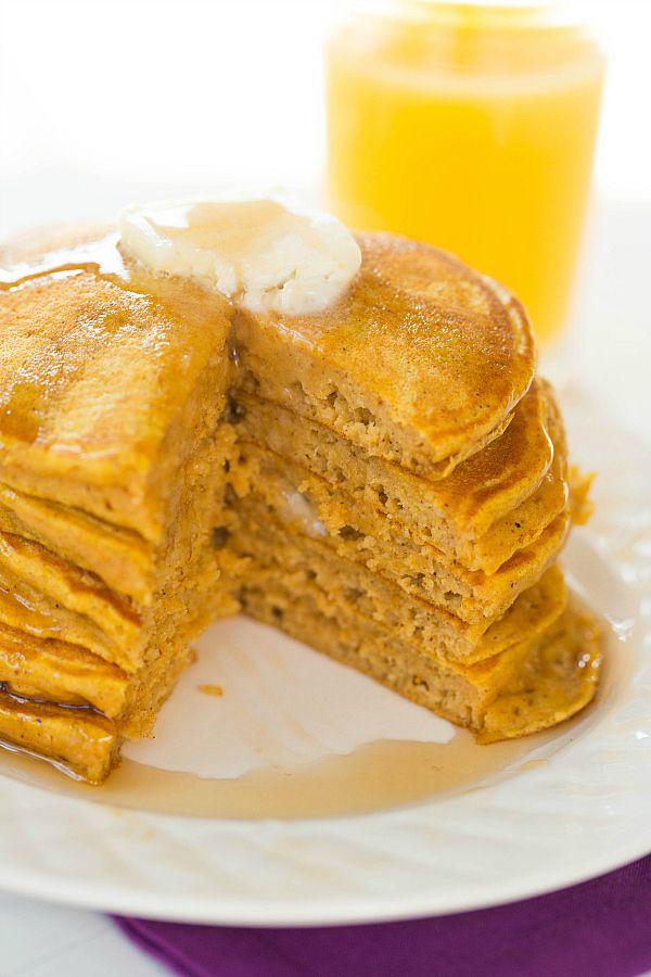 Pumpkin Pancakes by @Michelle (Brown Eyed Baker) :: www.browneyedbaker ...
