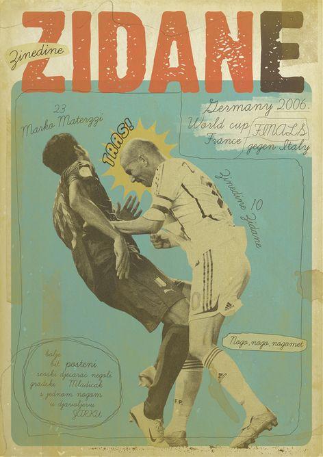 Football Poster / Zidane