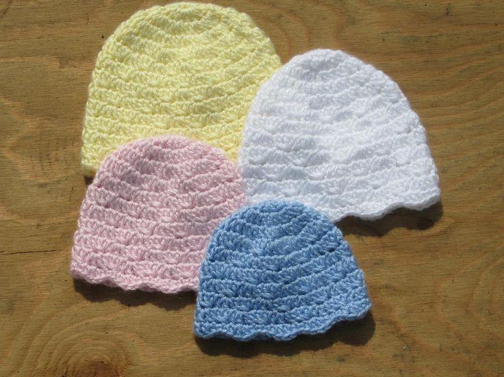 Easy Preemie Hat Knitting Pattern : 4 Easy Hats - Doll, Preemie, Crochet/Knit/Embroidery ...