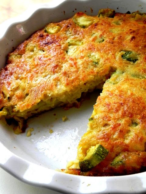 food and thrift: Zucchini Quiche...made easy!