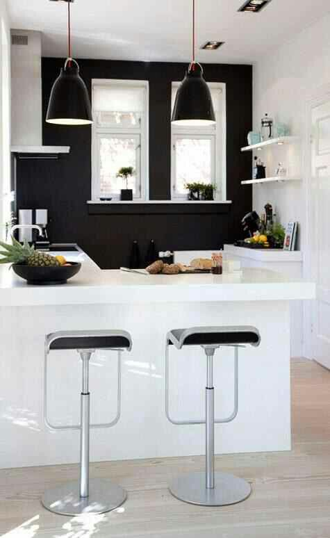 Black And White Kitchen Accent Color on black kitchen nook