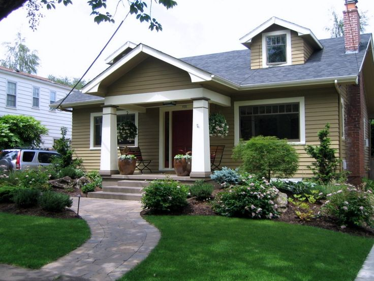 Landscaping compliments the porch curb appeal pinterest for Curb appeal landscaping