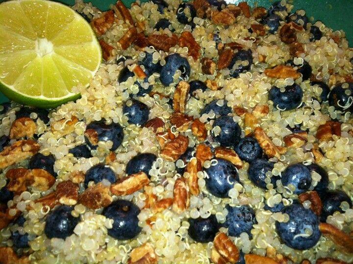 Blueberry quinoa   food   Pinterest