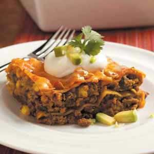 Tex-Mex Lasagna ( ill try this but leave off the jalapeno pepper... I ...