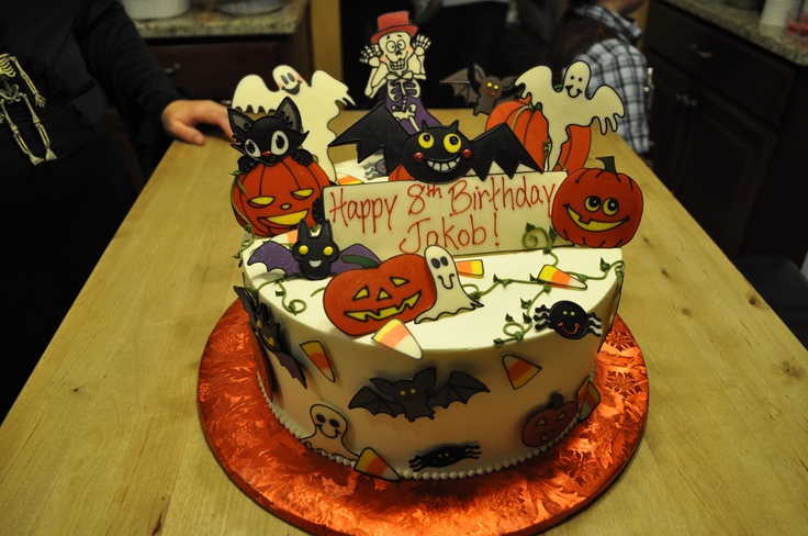 Halloween Birthday Party Cake for my son Birthday Party ...