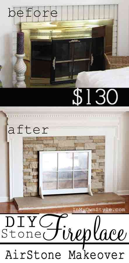 DIY Fireplace Makeover On A Budget Easy Hacks Pinterest