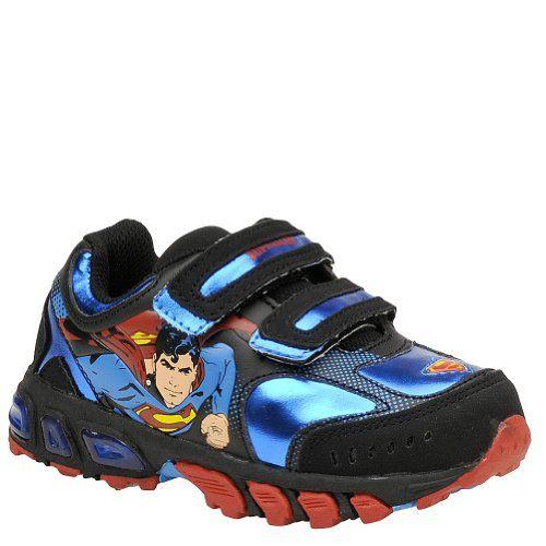 Marvel Boys' Superman Double Velcro Light Up (Toddler) - 7 Toddler M
