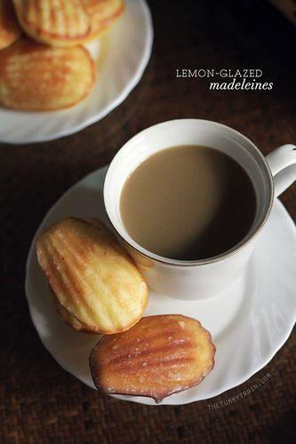 lemon-glazed madeleines | brunch | Pinterest