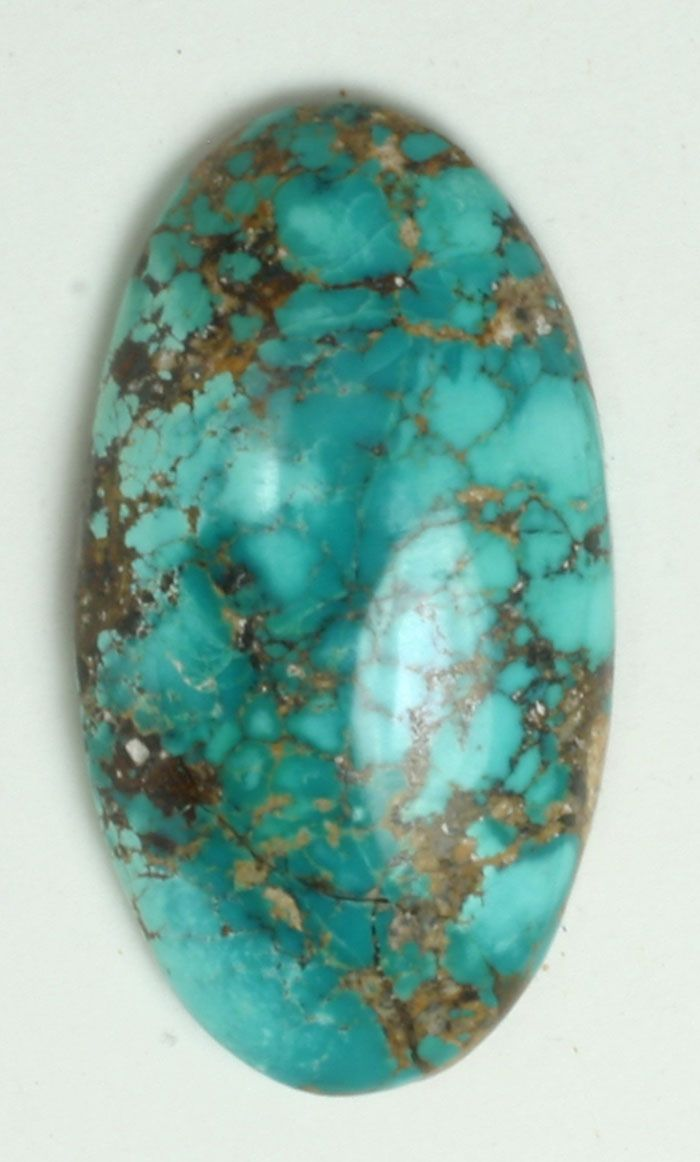 Turquoise, natural spiderweb - Neyshabur, Iran This is the real thing, persian spiderweb turquoise with no treatment. beautiful large cabochon. 40.65 carats
