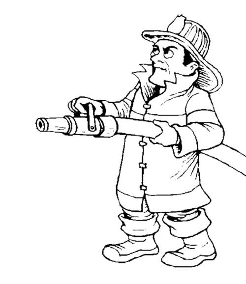 fireman and policeman coloring pages - photo#8