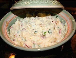 ... such as mash potatoes try them with cream cheese and chives. Delish