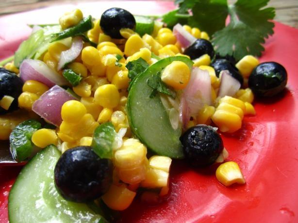 Corn & Blueberry Salad | Recipe