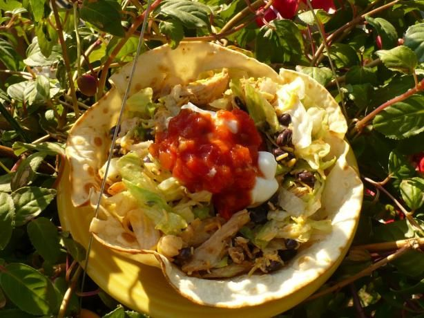 Bean and Chicken Taco Salad from Food.com: This is one of my favorite ...