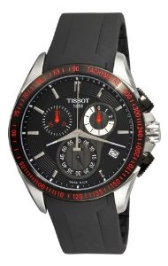 Tissot Men's T0244172705100 Veloci-T Chronograph Black Dial Watch.  List Price: $575.00  Savings: $185.52 (32%)
