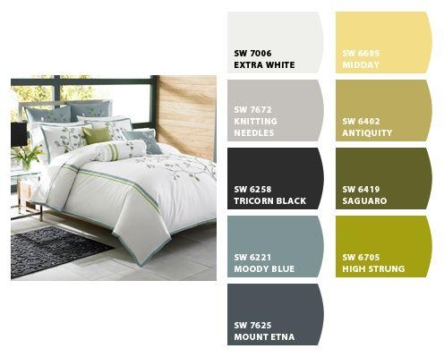 Calm Bedroom With Paint Colors Paint Schemes Pinterest