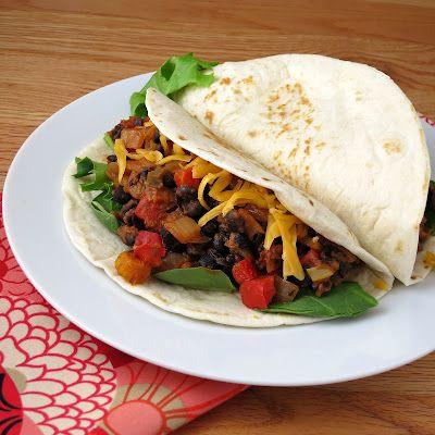 Chipotle black bean tacos; minus cheese and sour cream to make #vegan