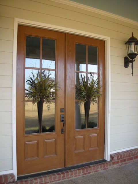 Love double door decor designer doors pinterest for Idea for doors