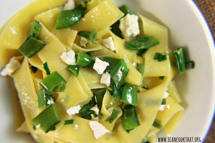 Pappardelle Pasta with Snap Peas | Food | Pinterest