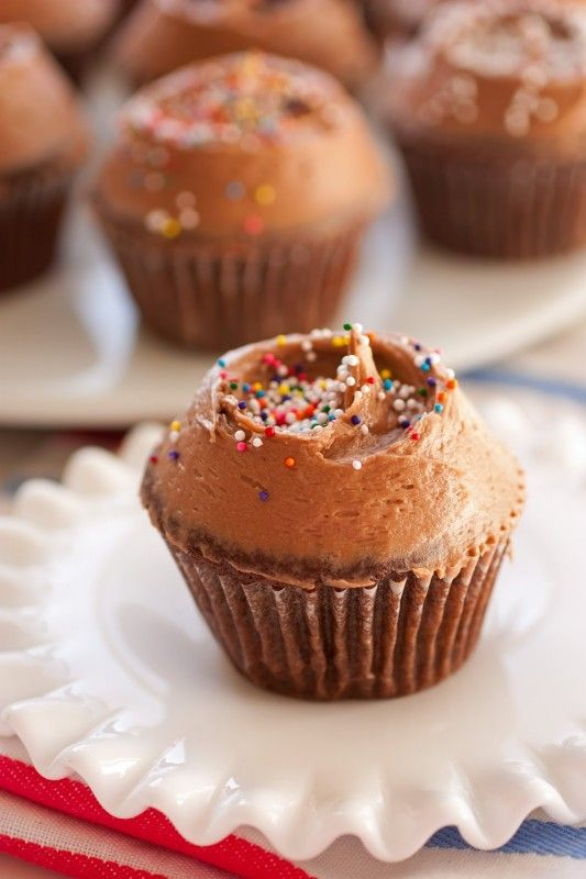 Chocolate Cupcakes with Chocolate Cream Cheese Frosting Made these for ...