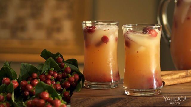 Autumn Chiller Mocktail 2 Tablespoons cranberry sauce 1/2 lemon 3 ...