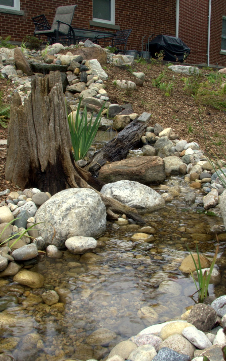 Backyard Ponds And Streams : Backyard waterfallpond (3)  Backyard Ponds and Streams  Pinterest