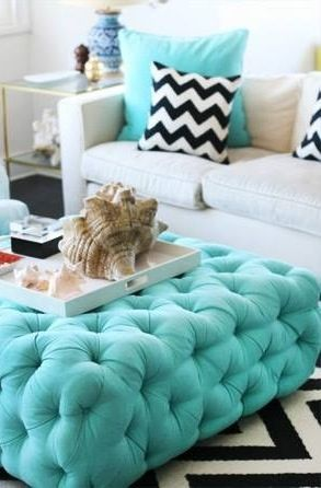 Happu turquoise living room inspiration and styling | Turquoise pillows .