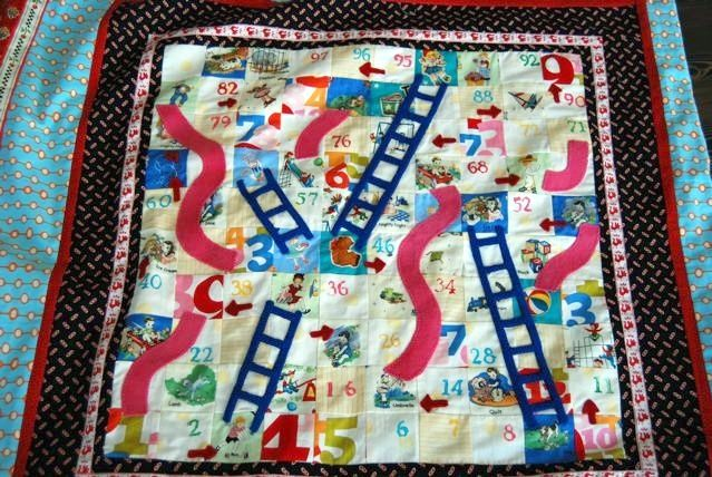 Chutes & Ladders quilt | Quirky Quilts | Pinterest