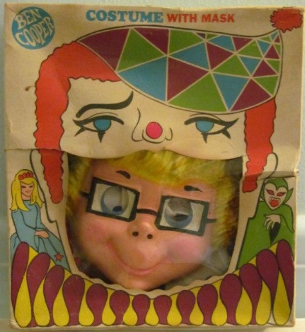 BEN COOPER: 1970s Mrs. Beasley Costume with Mask #Vintage #Toys