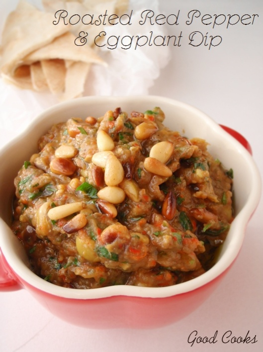 Roasted Red Pepper and Eggplant dip | Food/Recipes | Pinterest